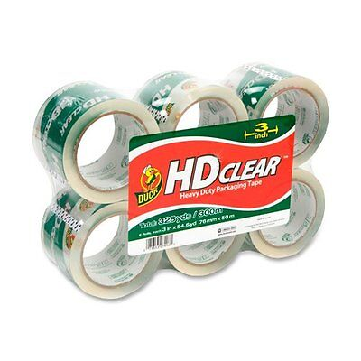 "Duck Hd Clear Extra Wide Packaging Tape - 3"" Width X 55 Yd Length - 6 / Pack -"