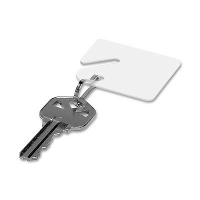 Mmf Slotted Square Plastic Key Tag - Plastic - 20 / Pack - White (MMF201300006)