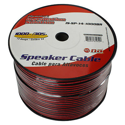 Audiopipe ISSP141000BR Pipeman's 14 Gauge Speaker Cable 1000ft Black/red Jacket