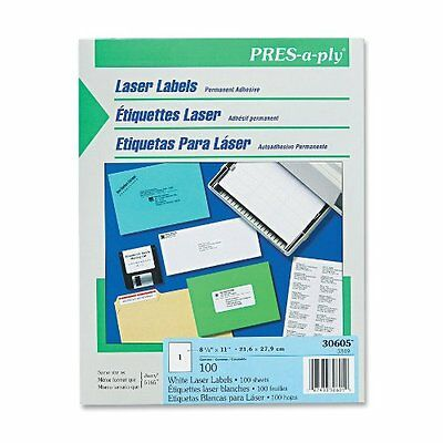 "Avery Full Sheet Laser Label - 8.50"" Width X 11"" Length - 100 / Box - Rectangle"