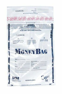 "Pm Securit Plastic Disposable Deposit Money Bag - 12"" X 16"" - Plastic - 100/pack"