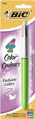 Bic 4-color Fashion Ballpoint Pen - Medium Pen Point Type - 1 Mm Pen Point Size