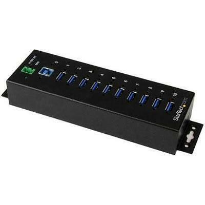 Startech.com 10 Port Industrial Usb 3.0 Hub - Esd And Surge Protection - Din