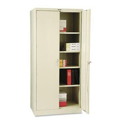 "Tennsco Heavy-gauge Steel Storage Cabinet - 36"" X 24"" X 78"" - Steel, Nylon - 5 X"