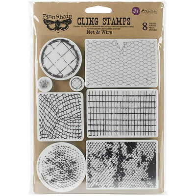 """Finnabair Cling Stamps 6""""X7.5""""-Net & Wire"""