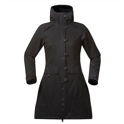 Bergans Bjerke Damen Coat Winddicht Wasserdicht Black/SolidDarkGrey