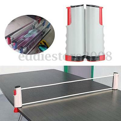 Portable Retractable Table Tennis Net Rack Set Replacement Ping Pong Accessory