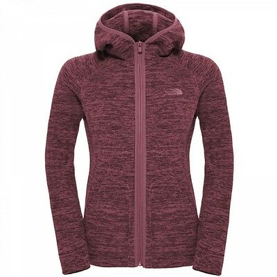 The North Face Damen Nikster Full Zip Hoodie Fleecejacke Renaissance Rose Black