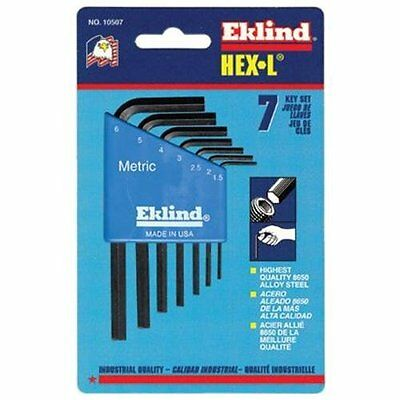 Eklind Tool Company 10507 7 Piece Short Series Hex-l Key Set With Holder