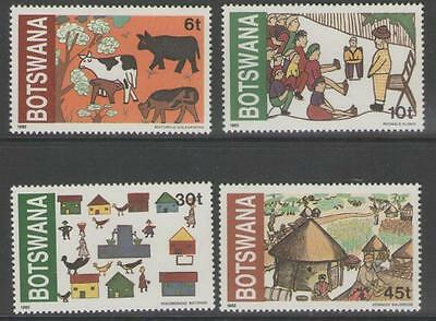 Botswana Sg507/10 1982 Childrens Art Mnh