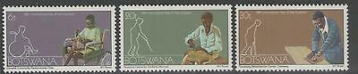 Botswana Sg486/8 1981 Year For Disabled Persons Mnh