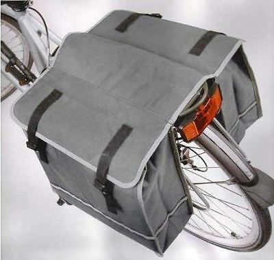 Double Bicycle Bag Water Resistant Luggage Bike Cycle Outdoors Picnic Carry Grey
