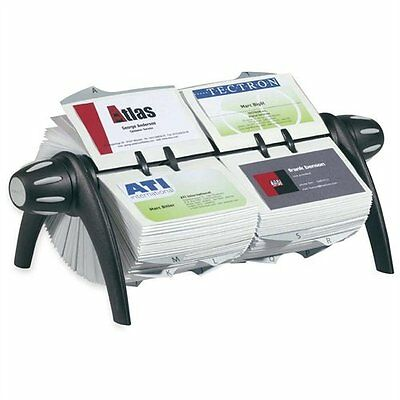 Durable Visifx Flip Duo Business Card File - 600 Business Card - 25 Printed A-z