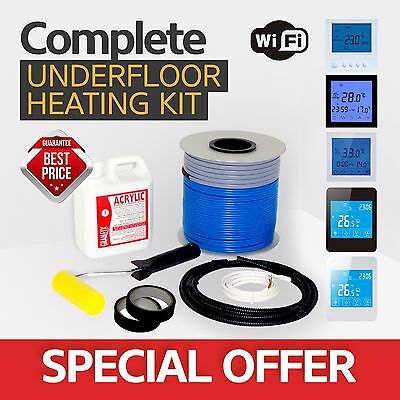 Electric underfloor heating loose cable kit - All Sizes in this Listing!