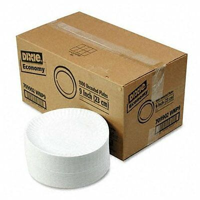 """DIXIE FOOD SERVICE 709902WNP9 White Paper Plates, 9"""" Dia., 4 Packs Of 250/carton"""