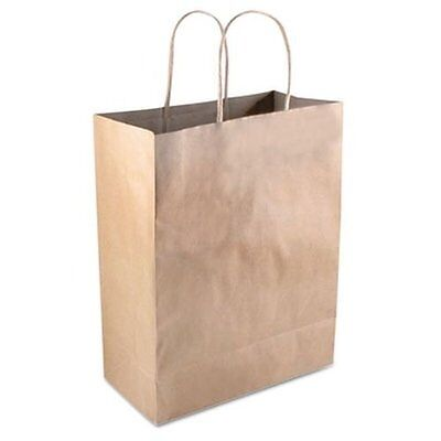 Consolidated Stamp 098375 Premium Shopping Bag, Paper, 8.27 X 4 X 14.96, Brown,