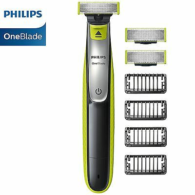 Philips OneBlade QP2530/25 Trimmer Beard Hair Shaver + 4 Combs & 2 Extra Blades