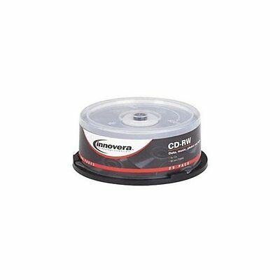 Innovera 78825 CD Rewritable Media - CD-RW - 12x - 700 MB - 25 Pack Spindle -