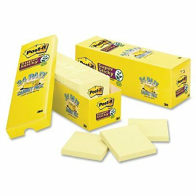 """Post-it Super Sticky Note Office Pack - Self-adhesive, Repositionable - 3"""" X 3"""""""