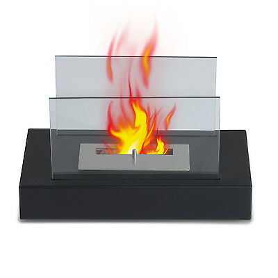 Bio Ethanol Fireplace Tab Table Top Firebox Burner Eco Friendly Fireplace Black
