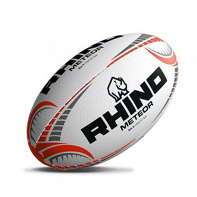 Rhino Rugby 'Meteor' Superior Hand Stiched Match Rugby Ball Size 5 rrp£35