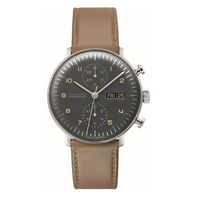 NEW Junghans Max Bill Chronoscope Men's Automatic Watch - 027/4501.01