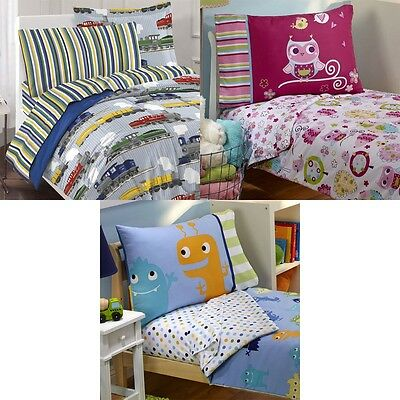 New Nursery Toddler Bedding Set Cute Kids Room Comforter Sheets Pillowcase
