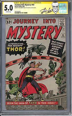 Journey Into Mystery #83 CGC 5.0 Stan Lee Signature Series (OW) 1st Thor