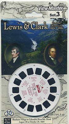LEWIS and CLARK Trail of Discovery 1804 - 1806 View-Master Set 3 Sealed Mint