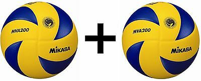 Mikasa FIVB Volleyball Official 2012 Olympic Game Ball Dimpled Surface (2-Pack)