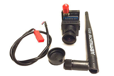 "AOMWAY 700TVL CMOS NTSC Camera & 5.8Ghz 200mW 32ch VTX FPV ""Backpack"" Combo"