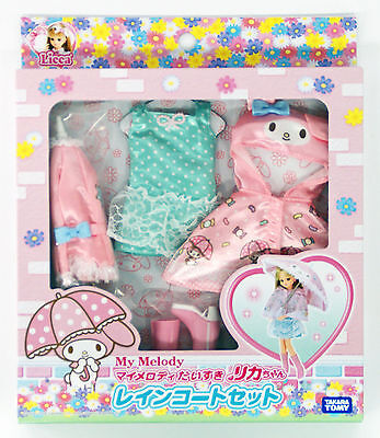 Takara Tomy Licca Doll My Melody Raincoat Set  doll not included  (853596)