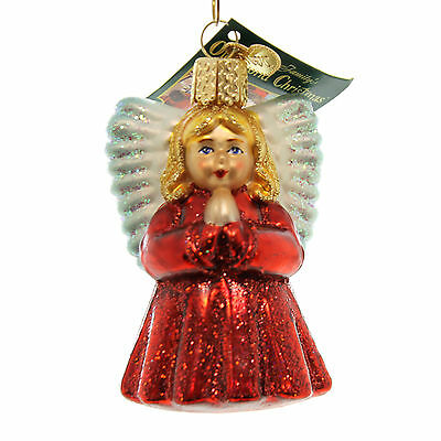 Old World Christmas BABY ANGEL Glass Religious Praying Ornament 10204