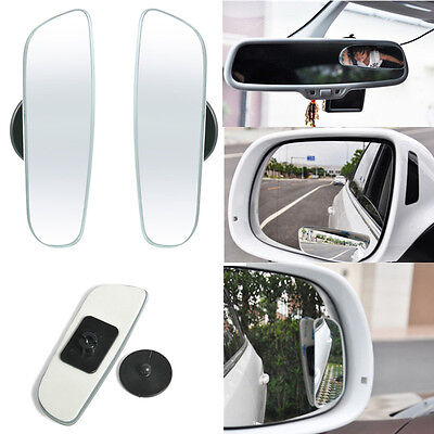 2PCS Car Auto Rear Side View Convex 360° Wide Angle Blind Spot Mirror Universal