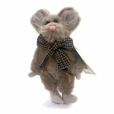 Boyds Bears Plush CHEDDA MOUSAKA Fabric Mouse Archive Jointed 575606