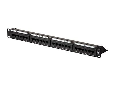 Monoprice Cat6 UTP 19-inch 1U Patch Panel, 24-port
