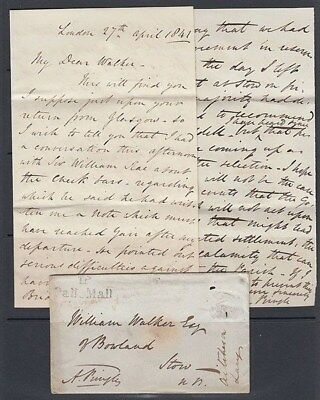 Gb 1841 Tp/pall Mall Cover And Letter (Id:281/d42447)
