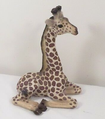 "13"" Giraffe Sitting/ Laying Down Resin Animal Figurine"