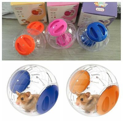 Hamster Exercise Ball Gerbil Play Toy Clear Various Colors (Pink Blue Orange)
