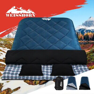 Weisshorn Sleeping Bag Bags Single Compact Camping Hiking -10°C Tent Winter