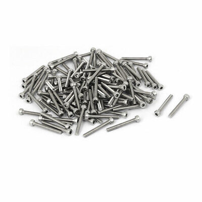 M3x25mm Thread 304 Stainless Steel Hex Socket Head Cap Screw Bolt DIN912 120pcs