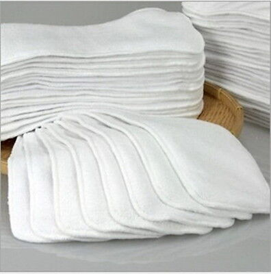 1-20Pcs Reusable Baby inserts liner for Cloth Diaper Nappy microfiber Optional L