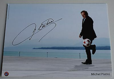 Michel Platini SIGNED Official Photo Club Card Autograph France Football COA