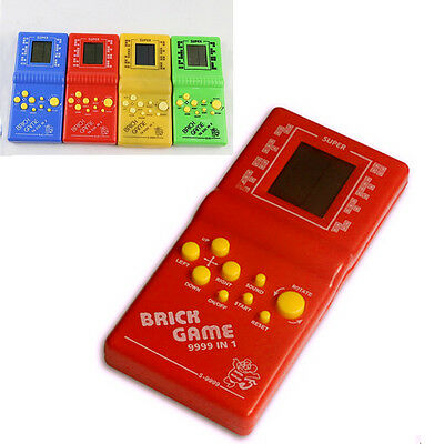 LCD Game Electronic Vintage Classic Tetris Brick Handheld Arcade Pocket Toy ZX