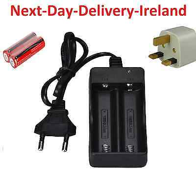 Dual UK EU Plug Universal Battery Batteries Charger 3.7V 2x 18650 Rechargeable