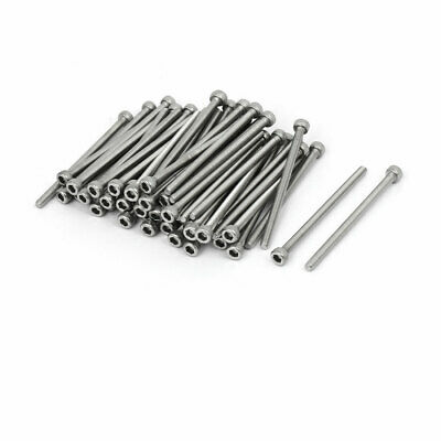 M3x50mm Thread 304 Stainless Steel Hex Socket Head Cap Screw Bolt DIN912 60pcs