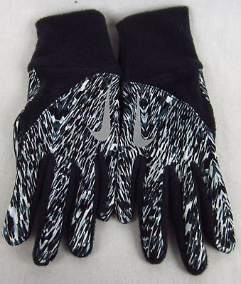 Nike Woman's Element Thermal Run Gloves Size Extra Small Black White Design