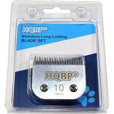 "HQRP Size-10 Animal Clipper Blade for Oster Pet Grooming (hair 1/16"" - 1.6mm)"