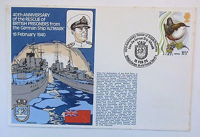 GREAT BRITAIN FDC 40th ANNIVERSARY RESCUE OF BRITISH PRISONERS FROM ALTMARK