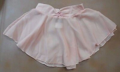 NWT Capezio 9635C Ballet Pink Polyester Crepe Skirt Medium Child Rhinestone